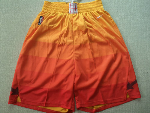 new style 79faa 6eefe Nike Utah Jazz Orange NBA Swingman City Edition Shorts on ...