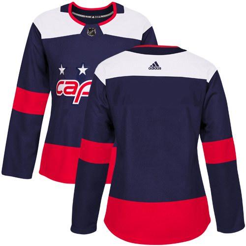 best loved c2507 db907 Women's Adidas Washington Capitals Blank Navy Authentic 2018 ...