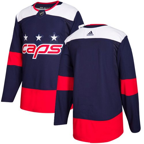 Men's Adidas Washington Capitals Blank Navy Authentic 2018 Stadium Series Stitched NHL Custom Jersey