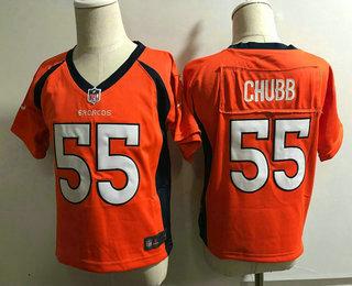 Toddler Denver Broncos  55 Bradley Chubb Orange Team Color Stitched NFL Nike  Game Jersey 3986b0196