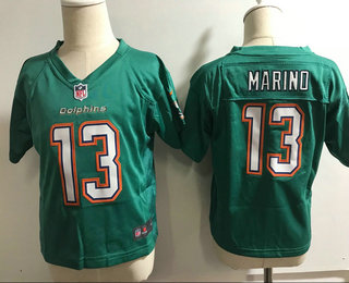 Toddler Miami Dolphins #13 Dan Marino Aqua Green Alternate Stitched NFL Nike Game Jersey