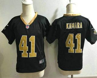 Toddler New Orleans Saints #41 Alvin Kamara Black Team Color Stitched NFL Nike Game Jersey