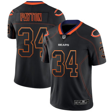 Nike Bears 34 Walter Payton Black Shadow Legend Limited Jersey