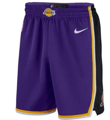 b61b6579a69d Men s Los Angeles Lakers Purple 2019 Nike Swingman Stitched NBA Shorts