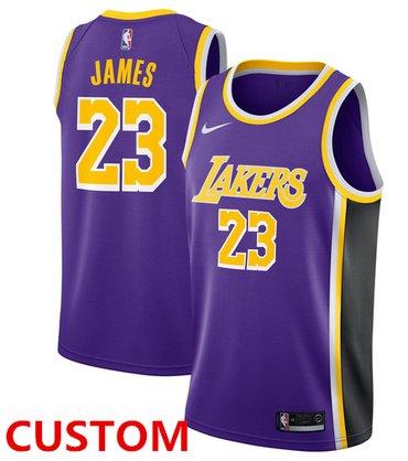 Custom Nike Los Angeles Lakers Purple NBA Swingman Statement Edition Jersey