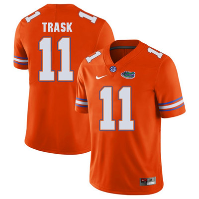 Florida Gators Orange #11 Kyle Trask Football Player Performance Jersey