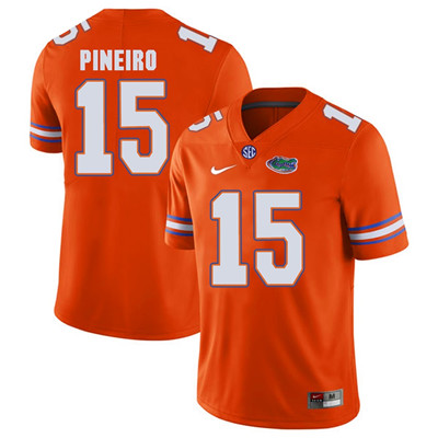 Florida Gators Orange #15 Eddy Pineiro Football Player Performance Jersey