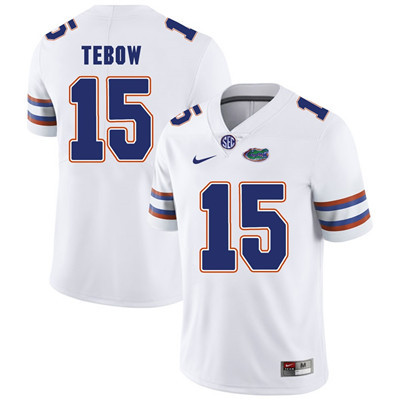 Florida Gators White #15 Tim Tebow Football Player Performance Jersey