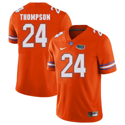 Florida Gators #24 Orange Mark Thompson Football Player Performance Jersey