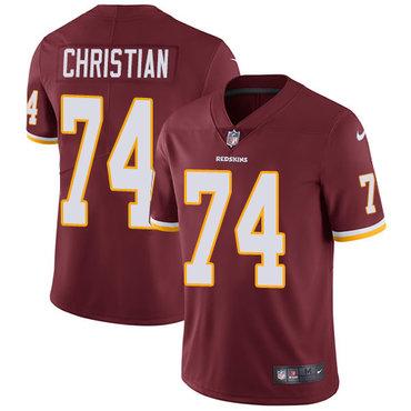 Nike Washington Redskins #74 Geron Christian Burgundy Red Team Color Men's Stitched NFL Vapor Untouchable Limited Jersey