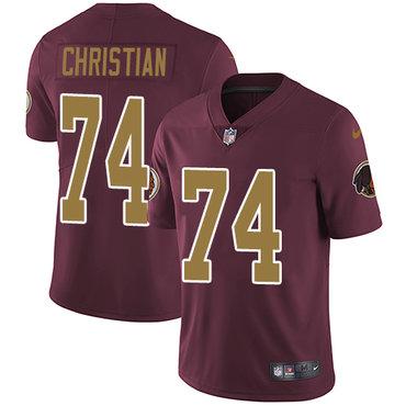 Nike Washington Redskins #74 Geron Christian Burgundy Red Alternate Men's Stitched NFL Vapor Untouchable Limited Jersey