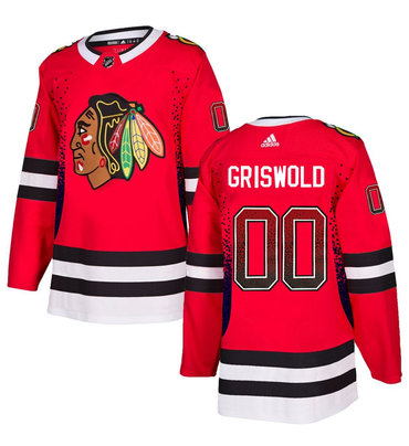 Men's Chicago Blackhawks #00 Clark Griswold Red Drift Fashion Adidas Jersey