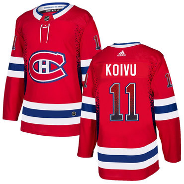 Men's Montreal Canadiens #11 Saku Koivu Red Drift Fashion Adidas Jersey