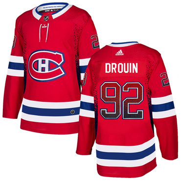 Men's Montreal Canadiens #92 Jonathan Drouin Red Drift Fashion Adidas Jersey