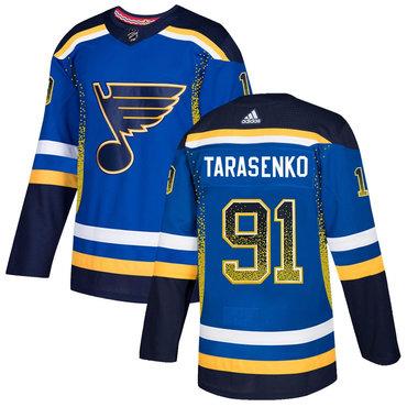 Men's St. Louis Blues #91 Vladimir Tarasenko Royal Drift Fashion Adidas Jersey
