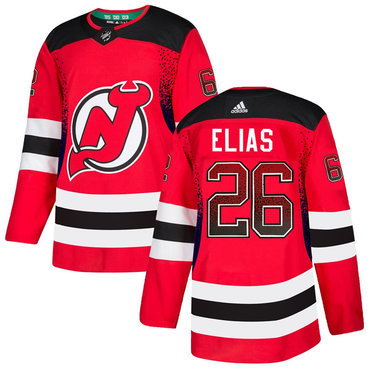 Men's New Jersey Devils #26 Patrik Elias Red Drift Fashion Adidas Jersey