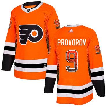 Men's Philadelphia Flyers #9 Ivan Provorov Orange Drift Fashion Adidas Jersey