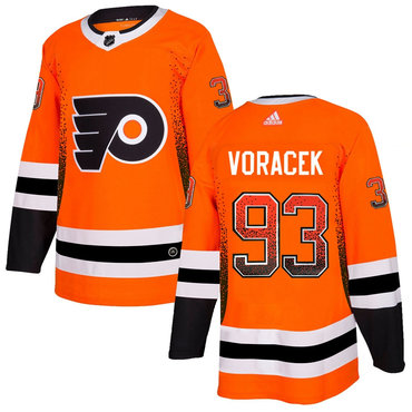 Men's Philadelphia Flyers #93 Jakub Voracek Orange Drift Fashion Adidas Jersey