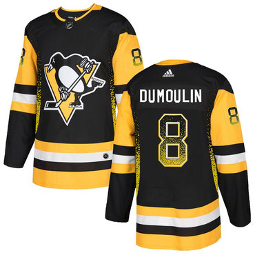 Men's Pittsburgh Penguins #8 Brian Dumoulin Black Drift Fashion Adidas Jersey