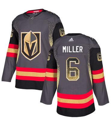 Men's Vegas Golden Knights #6 Colin Miller Gray Drift Fashion Jersey