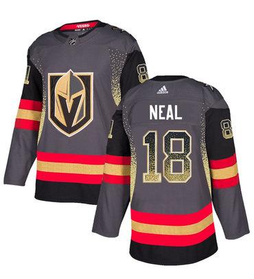 Men's Vegas Golden Knights #18 James Neal Gray Drift Fashion Jersey