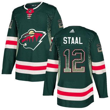 Men's Minnesota Wild #12 Eric Staal Green Drift Fashion Adidas Jersey
