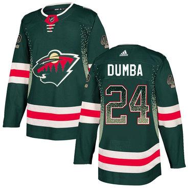 Men's Minnesota Wild #24 Matt Dumba Green Drift Fashion Adidas Jersey