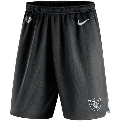 Men's Oakland Raiders Nike Black Knit Performance Shorts
