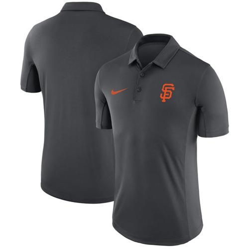 Men's San Francisco Giants Nike Anthracite Franchise Polo