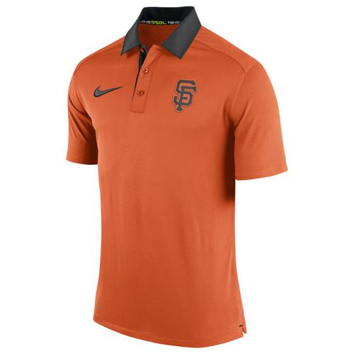 Men's San Francisco Giants Nike Orange Authentic Collection Dri-FIT Elite Polo