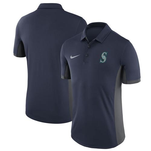 Men's Seattle Mariners Nike Navy Franchise Polo