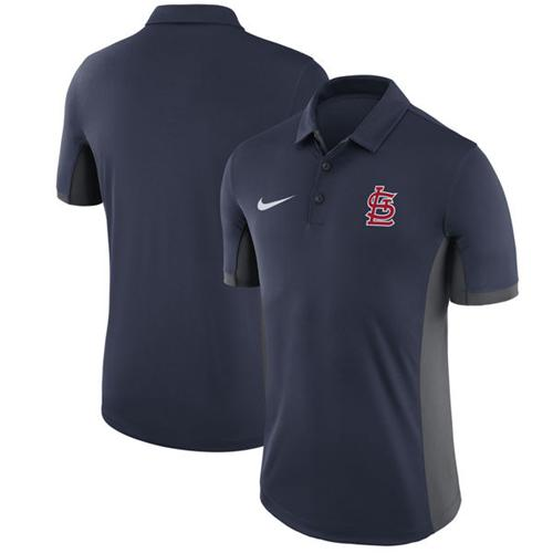 Men's St. Louis Cardinals Nike Navy Franchise Polo