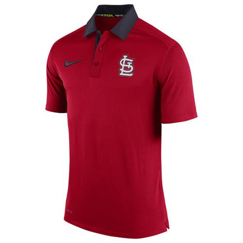Men's St. Louis Cardinals Nike Red Authentic Collection Dri-FIT Elite Polo