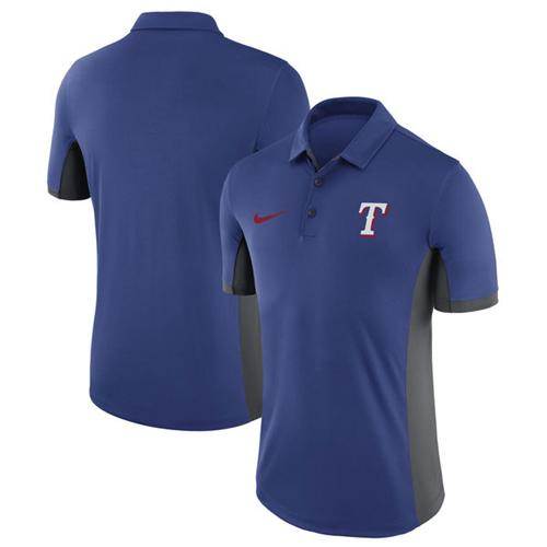 Men's Texas Rangers Nike Royal Franchise Polo