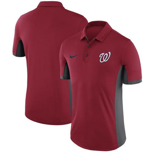 Men's Washington Nationals Nike Red Franchise Polo