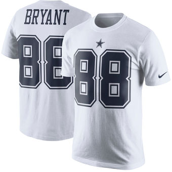 Men s Dallas Cowboys 88 Dez Bryant Nike White Color Rush Player Pride Name    Number T 7fe9cd1b4