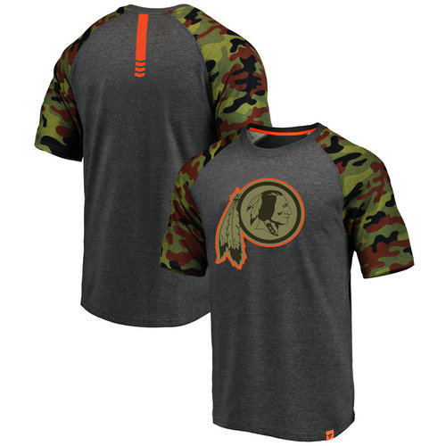 5aabbd0f9df Washington Redskins Heathered Gray NFL Pro Line by Fanatics Branded Camo  Recon Camo Raglan T-