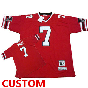 Atlanta Falcons Custom Red Throwback Jersey