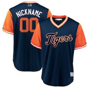 Men's Detroit Tigers Majestic Navy 2018 Players' Weekend Cool Base Custom Jersey