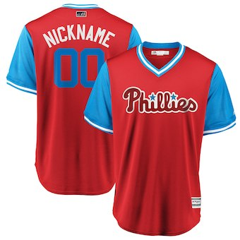 Men's Philadelphia Phillies Majestic Scarlet 2018 Players' Weekend Cool Base Custom Jersey