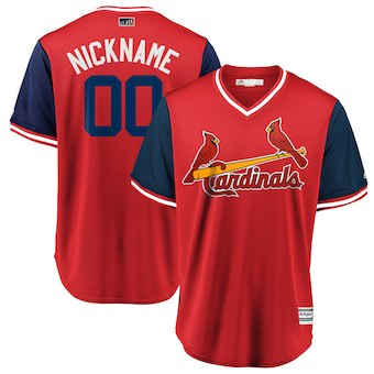 Men's St. Louis Cardinals Majestic Red 2018 Players' Weekend Cool Base Custom Jersey