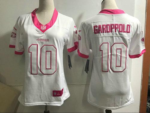 pretty nice 94434 cc214 Women's Nike San Francisco 49ers #10 Jimmy Garoppolo White ...