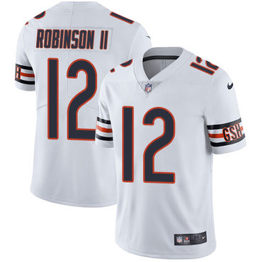 Men's Nike Chicago Bears #12 Allen Robinson II White Stitched NFL Vapor Untouchable Limited Jersey