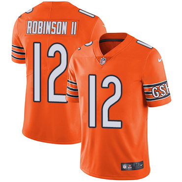 Men's Nike Chicago Bears #12 Allen Robinson II Orange Stitched NFL Limited Rush Jersey