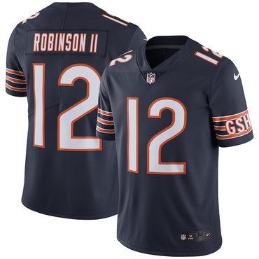 Men's Nike Chicago Bears #12 Allen Robinson II Navy Vapor Untouchable Limited Jersey