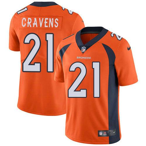 Youth Nike Broncos 21 Su'a Cravens Orange Team Color Stitched NFL Vapor Untouchable Limited Jersey