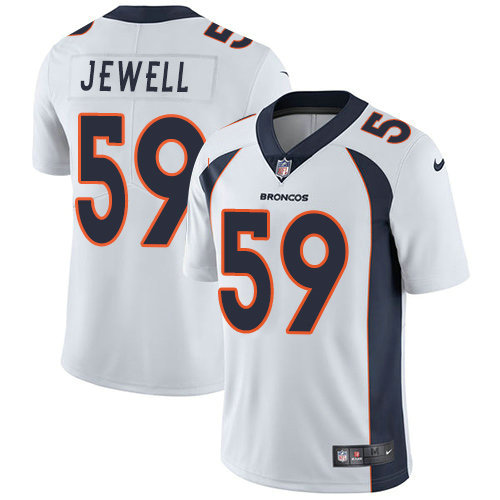 Youth Nike Broncos 59 Josey Jewell White Stitched NFL Vapor Untouchable Limited Jersey