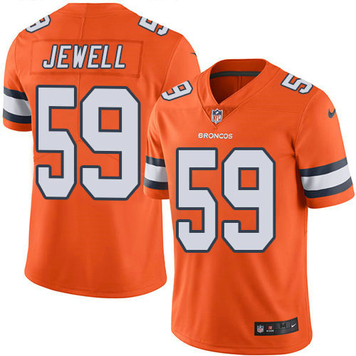 Youth Nike Broncos 59 Josey Jewell Orange Stitched NFL Limited Rush Jersey