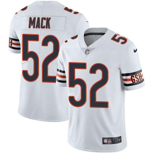 Youth Nike Bears 52 Khalil Mack White Stitched NFL Vapor Untouchable Limited Jersey