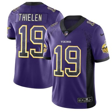 Nike Minnesota Vikings #19 Adam Thielen Purple Team Color Men's Stitched NFL Limited Rush Drift Fashion Jersey